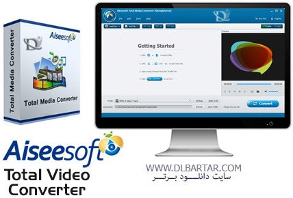 دانلود نرم افزار Aiseesoft Total Media Converter 8.0.20 + Platinum 7.1.30